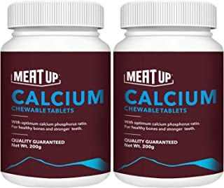 Meat Up Calcium Chewable Tablet- Dog Supplement, 50 Pcs (Buy 1 Get 1 Free)