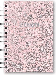 Orange Circle Studio 2020 Medium Spiral Planner, Floral Vines Pink