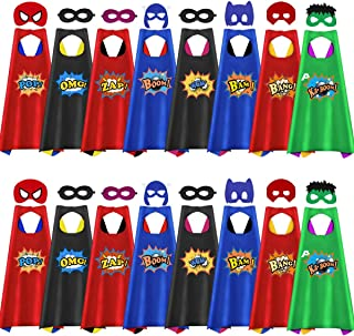 16 Pack Capes for Kids Party Supplies with Masks & Capes for Kids Birthday Party Favors Costume Dress Up