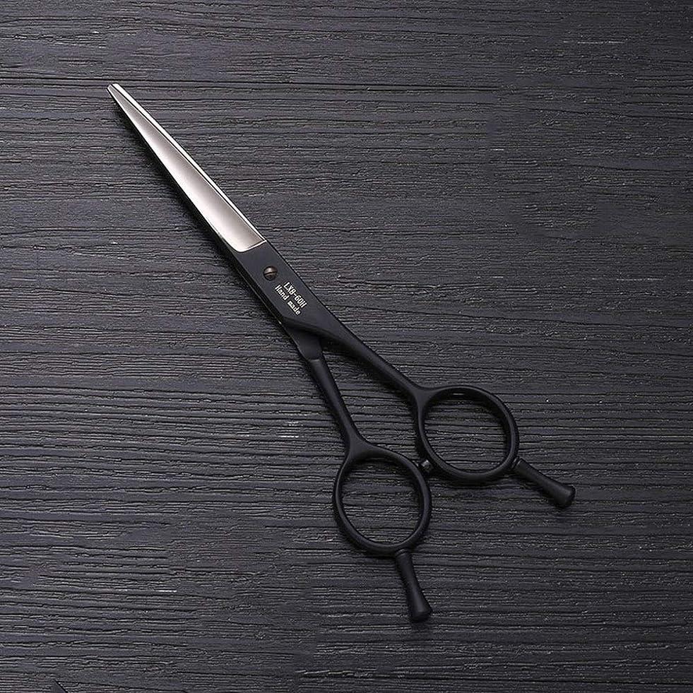 以前はウガンダ申し立てられた5.5インチの美容院の専門の理髪の二重尾釘の黒はさみ、ステンレス鋼のはさみ ヘアケア (色 : 黒)