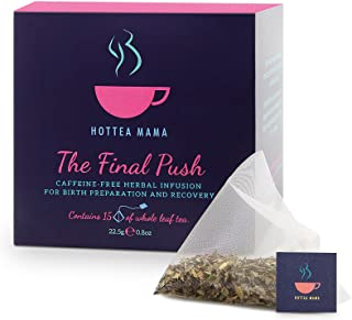 HOTTEA MAMA The Final Push Raspberry Leaf Pregnancy Tea For Expectant Mothers And Birth Preparation, Voted Best Maternity ...