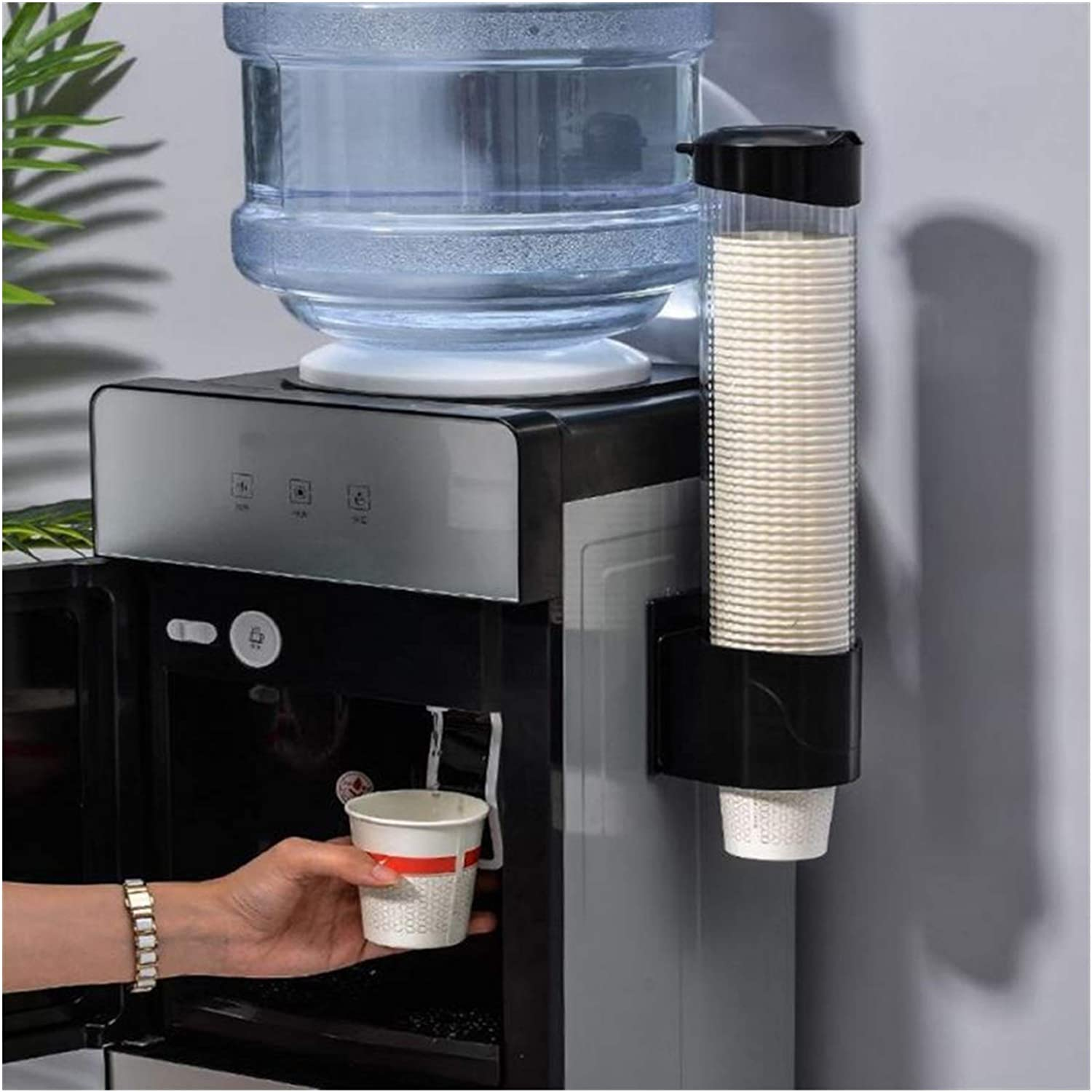 Direct gift store AFTWLKJ 1pcs Perforated Automatic Water Cup Wall Di Mount Holder