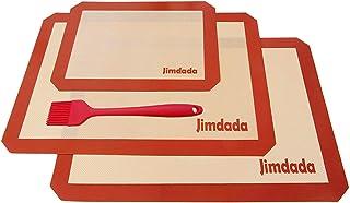 Alfombrillas de silicona para hornear, juego de 3 antiadherente de silicona para hornear (2 grandes (42 x 29,5 cm) y 1 pequeño (30 x 20 cm) jimdada resistente al calor para galletas. … (3pcs)