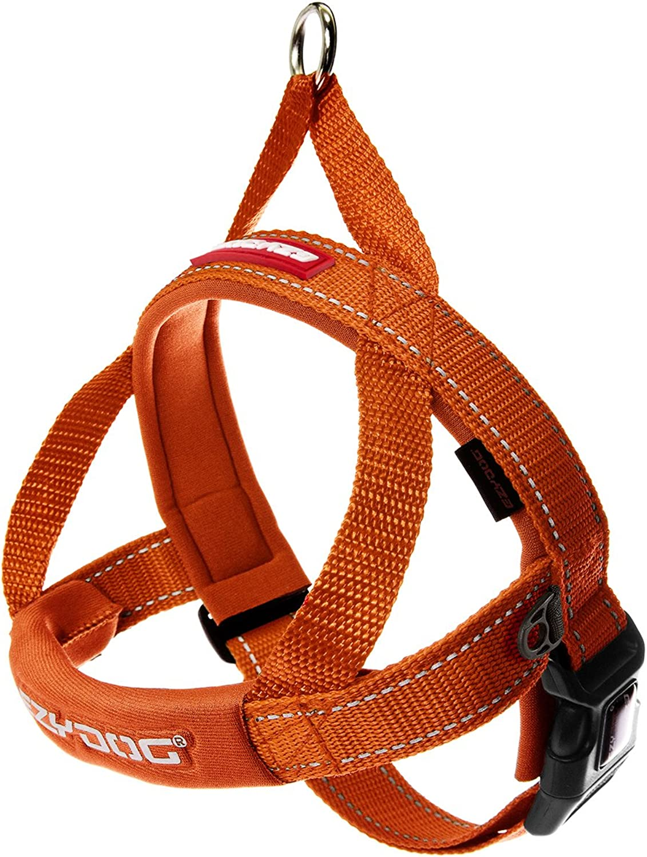 EzyDog Quick Fit Dog Harness, Blaze orange, XSmall
