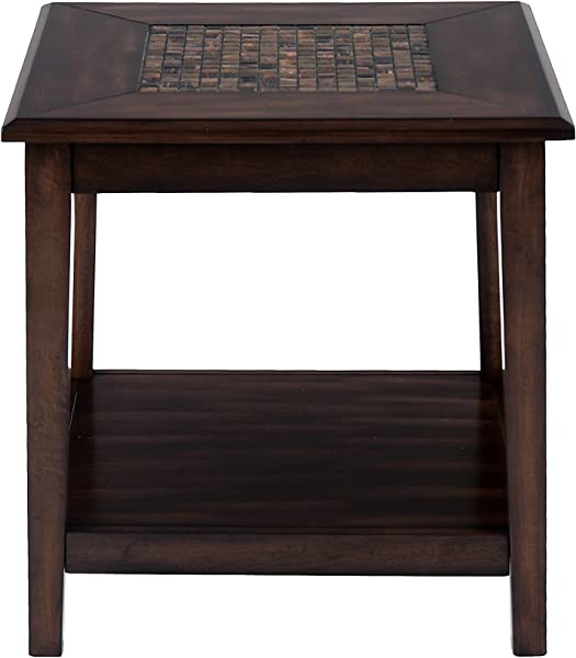 Jofran 698 3 Baroque Square End Table 24 W X 24 D X 24 H Baroque Brown Finish Set Of 1