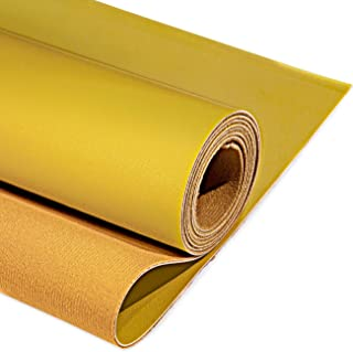 """PU Fabric Leather 1 Yard 54"""" x 36"""", 1.25mm Thick Faux Synthetic Leather Material Sheets for Upholstery Crafts, DIY Sewings..."""