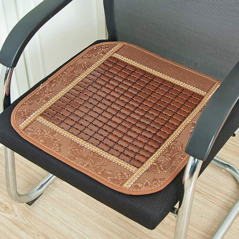 QTQHOME Summer Chair Cushion Seat Cushioning Anti Skidding Breathable Car Office Chair Cool Pad Brown 40x40cm 16x16inch