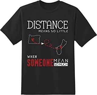 Long Distance Relationships Oregon OR and Guam GU Gifts for Him, Her, Friends, Family Unisex Tshirt