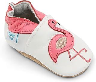 9d5be0d6e8704 Dotty Fish Chaussures Cuir Souple bébé et Bambin. 0-6 Mois à 3-