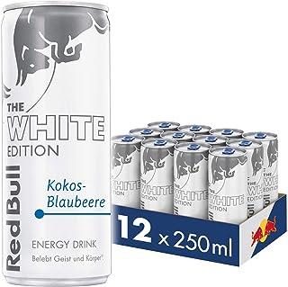 Red Bull Energy Drink Kokos-Blaubeere Dosen Getränke White Edition 12er Palette, EINWEG 12 x 250 ml