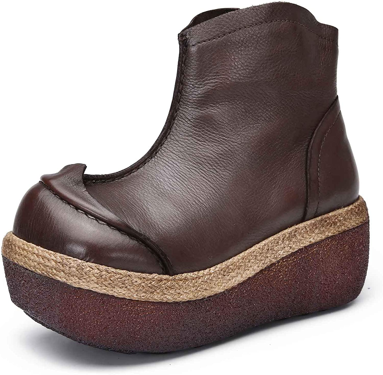 Women's Sneakers Christmas Carnival Women's Boots Anti-Skid Lightweight Brown 3-6