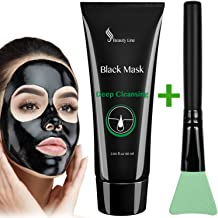 Blackhead Remover - Black Face Mask - Charcoal Face Mask - Peel off Mask - Activated Facial Mud Mask - Blackhead Remover Mask - Face Mask Brush - Deep Pore Cleansing Mask - Purifying Peel-off Mask