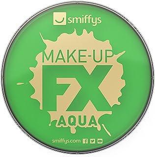 Smiffy'S 39138 Maquillaje Fx Smiffy, Aqua Pintura Facial Y De Cuerpo, Brillante, Verde Brillante