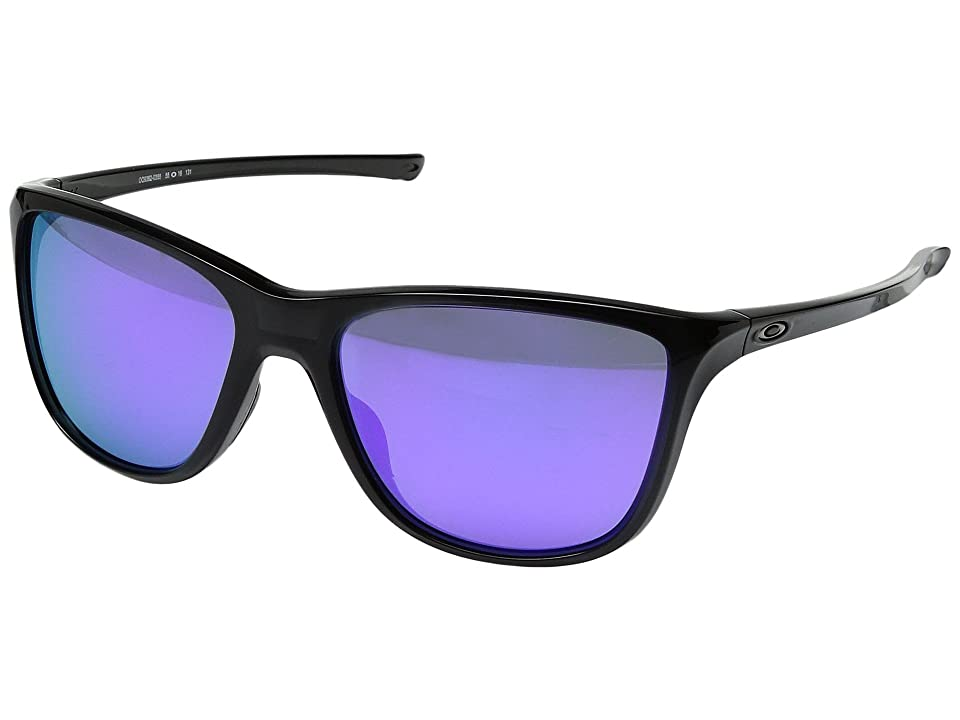 Oakley Reverie (Black Ink w/ Violet Iridium) Fashion Sunglasses