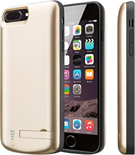 PEYOU Compatible for iPhone 8 Plus/7 Plus Battery Case [Fit for Lightning Headphones], 8000mAh Slim Protective Extended Backup Charger Charging Battery Case Compatible for iPhone 8 Plus/7 Plus 5.5