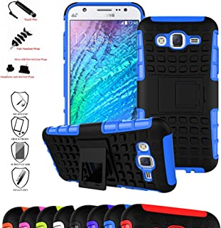 Galaxy J5 2015 Case,Mama Mouth Shockproof Heavy Duty Combo Hybrid Rugged Dual Layer Grip Cover with Kickstand for Samsung Galaxy J5 J500 2015(with 4 in 1 Packaged),Blue