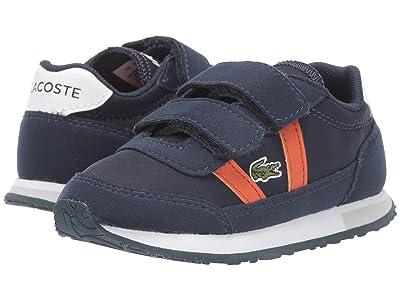 Lacoste Kids Partner 319 1 (Toddler/Little Kid) (Navy/Orange) Kid
