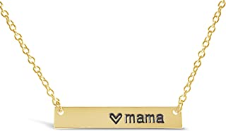 Love Mama Bar Necklace, Simple Horizontal Bar Necklace, Bar Necklaces for Women and Girls, Mothers Day Jewelry, Mom Necklace, Gift for New Mothers