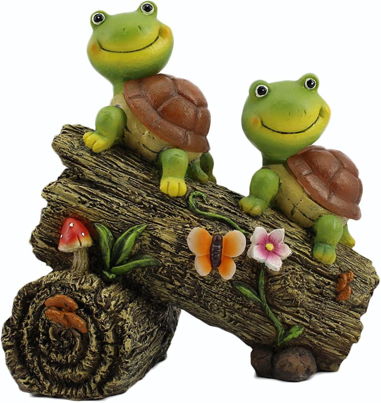 NARUJUBU Turtle Garden Statue Outdoor Turtl Max 83% OFF San Antonio Mall Decor Premium Resin
