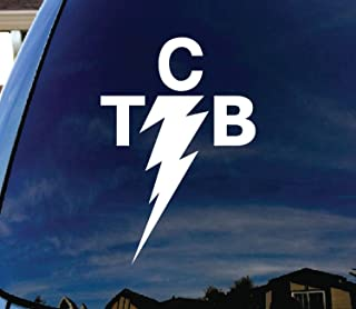"SoCool - TCB Elvis - Vinyl 6"" tall (color: WHITE) decal laptop tablet skateboard car windows sticker"