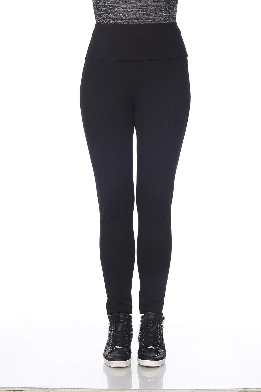 bluee Sunset Women's Black Comfy Basic Everyday Ponte Pant Full Length Leggings