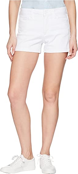 Paige Jimmy Jimmy Shorts w/ Raw Cuff Hem in Crisp White