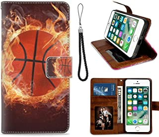 Basketball Wallpaper Wallet Cover Case for iPhone 7 (2016) and iPhone 8 (2017) [4.7-Inch] Shockproof
