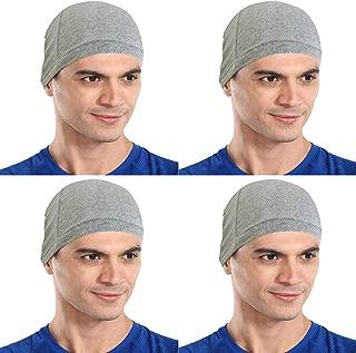 The Blazze Cotton Helmet Cap (Free Size, Grey+Grey+Grey+Grey)