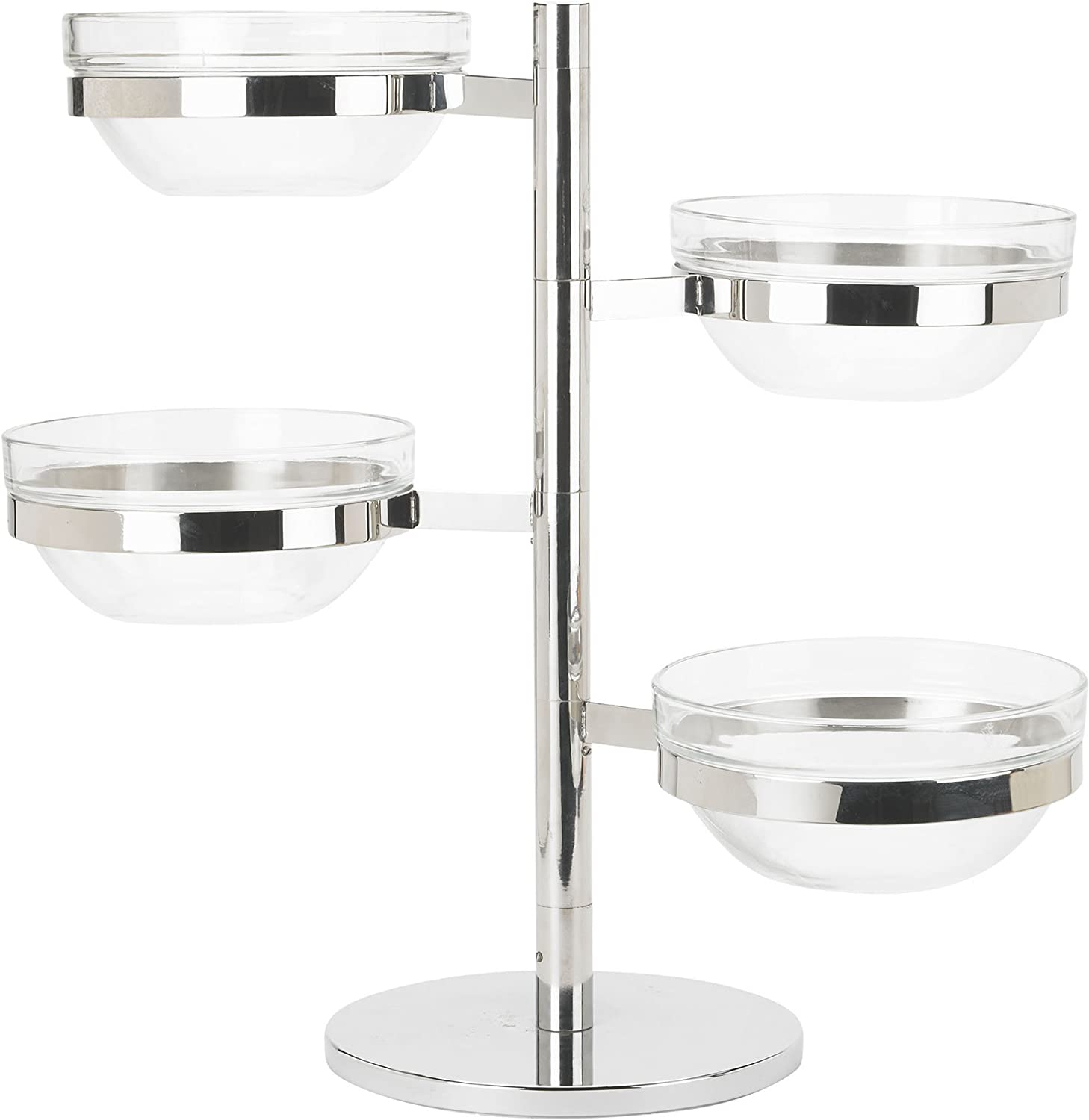 Winco TDSF-4 4 Tier Dallas Now free shipping Mall Swing Display Glass Bowl Set Arm