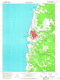 YellowMaps Fort Bragg CA topo map, 1:24000 Scale, 7.5 X 7.5 Minute, Historical, 1960, Updated 1968, 27 x 22.1 in