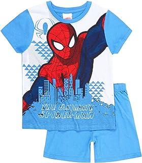 Pijama corto para niño Spider-Man blanco/azul de 4a 10años