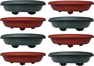 Set of 8 Rolling Plant Saucers! Perfect for Moving Heavy Pots and Planters! (8 Rolling Caddies)