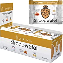 L'Orenta Single Serve Stroopwafels (Caramel, 16 Wafels)
