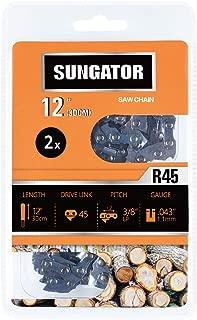 SUNGATOR 2-Pack 12 Inch Chainsaw Chain SG-R45, 3/8
