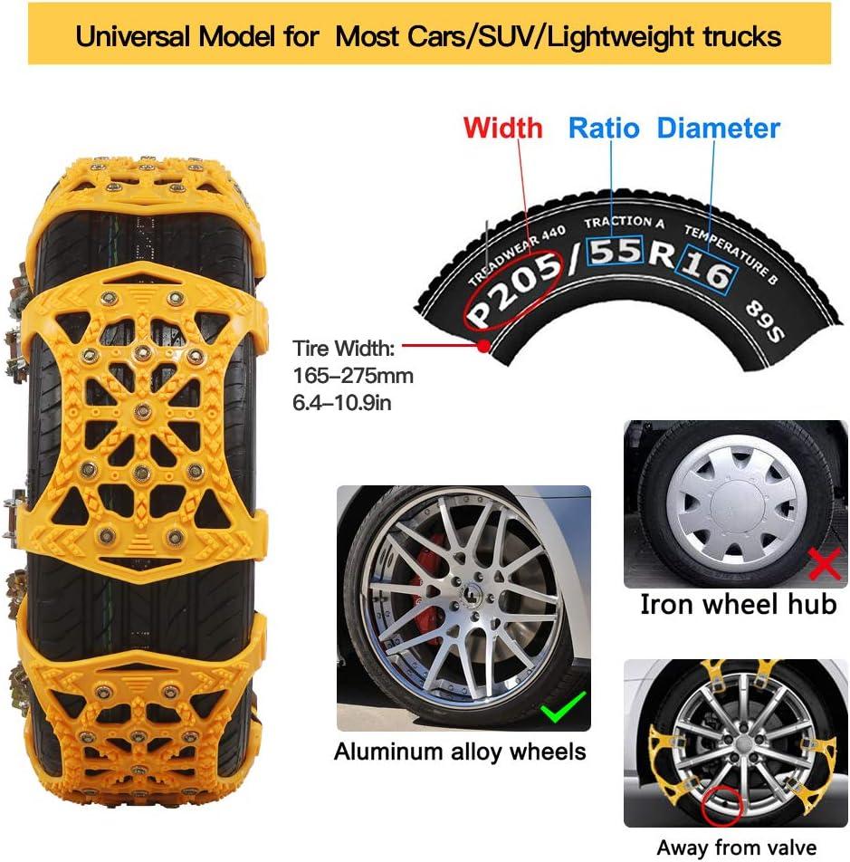 soyond Snow Chains Car Anti Slip Snow Tire Chains Adjustable Anti ...