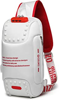 ボディバッグ USB充電ポート搭載 斜めがけ ワンショルダーバッグ メンズ 旅行カバン 盗難防止 防水 9.7インチiPad収納可能