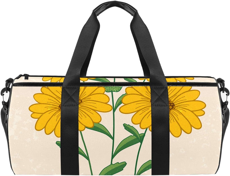 Dragon Sword Ranking TOP11 Yellow Daisy Designed Bag Duffel Max 65% OFF Tot Luggage Travel