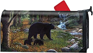 Bruyu5se Bear River Autun Personalized Mailbox Cover Magnetic Fits Standard-Sized Mailboxes 21 x 18 Inches Waterproof Canvas Mailbox Cover