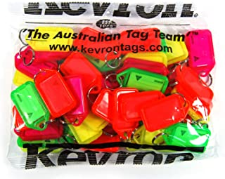 Key Tags Kevron Fluorescent Assorted Key Tags 50 Pack, (80318)