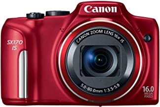 $299 » Canon PowerShot SX170 IS 16.0 MP Digital Camera, Red (discontinued by manufacturer) (Renewed)