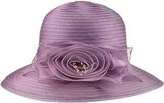 Prefe 1920s Womens Summer Organza Kentucky Derby Dress Bowler Sun Hat Derby Tea Party