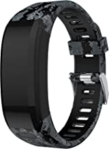 Junboer Compatible Garmin Vivosmart HR Watch Band, Accessories Silicone Replacement Wrist Watch Strap for Garmin Vivosmart HR SmartWatch(NOT for Vivosmart HR+), Only for 4PK (Black 2)
