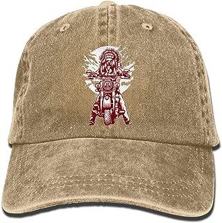 Indian Motorcycle Denim Hat Adjustable Womens Funny Baseball Caps