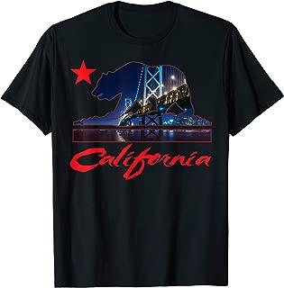 Mens CaliDesign California Skyline T-shirt Bay Area San Francisco