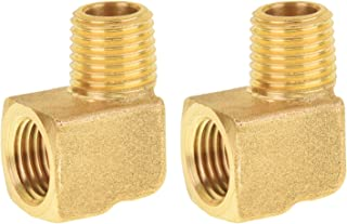 Solid Brass Street Pipe 90 Degree Elbow 3//8 Inch Male Female NPT Air Fuel 6 Pack