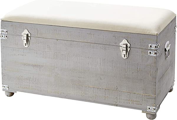 Central Style Cushion Seater Trunk Light Gray With Natural Cushion