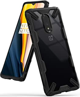 """Ringke Fusion-X Designed for OnePlus 7 Case Impact Resistant Protection Cover for OnePlus 7 (6.4"""") - Black"""