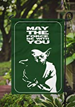 Star Wars Garden Flag | Yoda May The Force be with You | 12.5 x 18 in