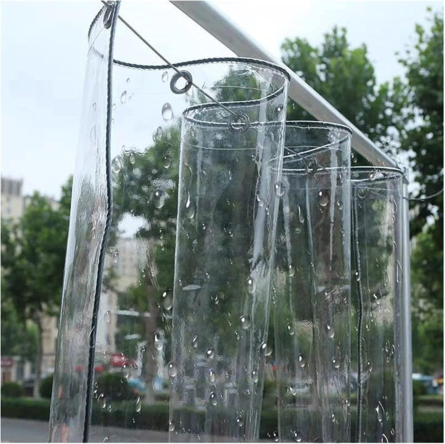 LIANGLIANG Clear Tarpaulin Max 80% OFF with Duty Finally resale start Heavy Eyelets Transparent