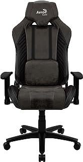 Aerocool Baron Silla Gaming, AeroSuede Transpirable, Respaldo Ajustable, Negro
